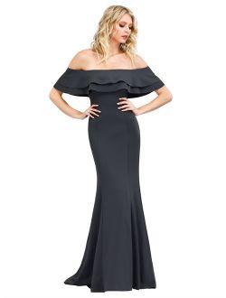 Women's Elegant Off Shoulder Formal Evening Dresses For Women 00853 Us04