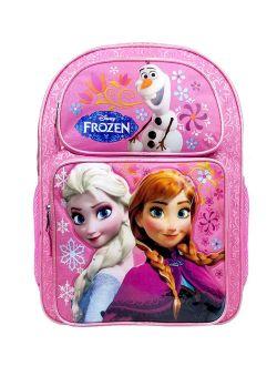 Frozen Elsa & Anna Pink Girls Large Backpack/school Book Bag For Kids