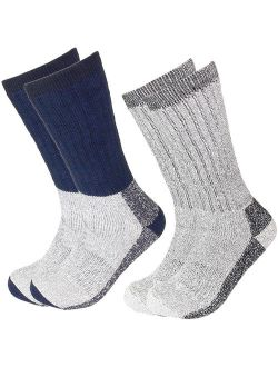 Falari 2 Pairs Merino Wool Socks Excellent for Cold Weather Temp 5-25F Super Warm for Winter