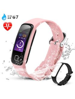 AGPTEK Fitness Tracker Watch, Color Screen Smart Wristband with Sport Band Heart Rate Sleep Monitor Pedometer