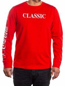 "Men's Coca Cola Coke ""Classic"" Long Sleeve Graphic Tee"