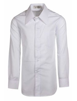 Boys Long Sleeve Button Down Dress Shirts 18 Colors