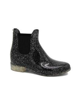 Storm Kidz Girls Booties Rainboots - Chelsea Boots Kids Little Kid/Big Kid Waterproof with Handle