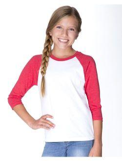 Next Level T-Shirts Youth CVC Three-Quarter Sleeve Raglan T-Shirt