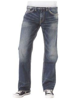 Silver Jeans Denim Mens Zac Relaxed Straight Medium Wash M4408SJB380
