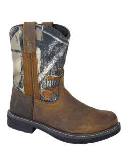 Smoky Mountain Kid's Buffalo Brown/Camo Cowboy Boots 2463