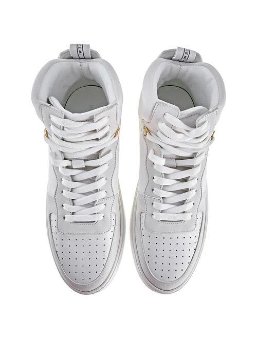 Buscemi Men's White Sneakers High-Top Basket Uno Size 41