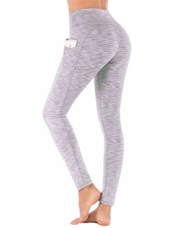 High Waist Yoga Pants With Pockets, Tummy Control, Workout Pants For Women 4 Way Stretch Yoga Leggings With Pockets