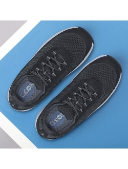 Proven Foot And Heel Pain Relief. Extended Widths. Best Orthopedic Shoes Plantar Fasciitis, Diabetic Men's Walking Shoes, Lava