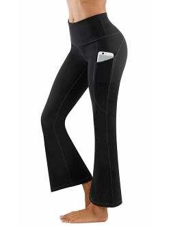 Fengbay Bootcut Yoga Pants, Women's Bootleg Yoga Pants with Pockets Tummy Control 4 Way Stretch Plus Size Yoga Workout Pants