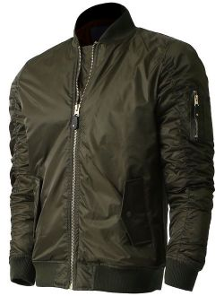 Ma Croix Mens MA-1 Bomber Lightweight Padded Jacket Outerwear