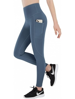 ESPIDOO Women's High Waisted Yoga Pants, Tummy Control Workout Pants for Women, 4 Way Strench Leggings with Pockets
