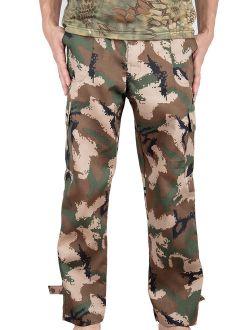 Mens Military Style Total Terrain Camo BDU Pants, Desert Digital Camo, Woodland Camo, City Digital Camouflage