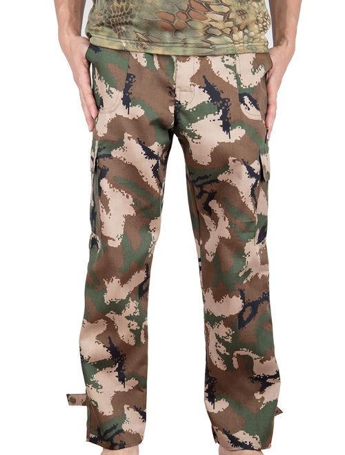 Lelinta Mens Military Style Total Terrain Camo BDU Pants, Desert Digital Camo, Woodland Camo, City Digital Camouflage