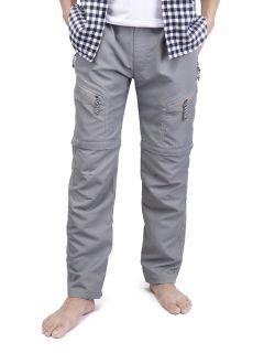 Mens Casual Trousers Waterproof Outdoor Sports Combat Pants Cargo Work Short Pants Grey