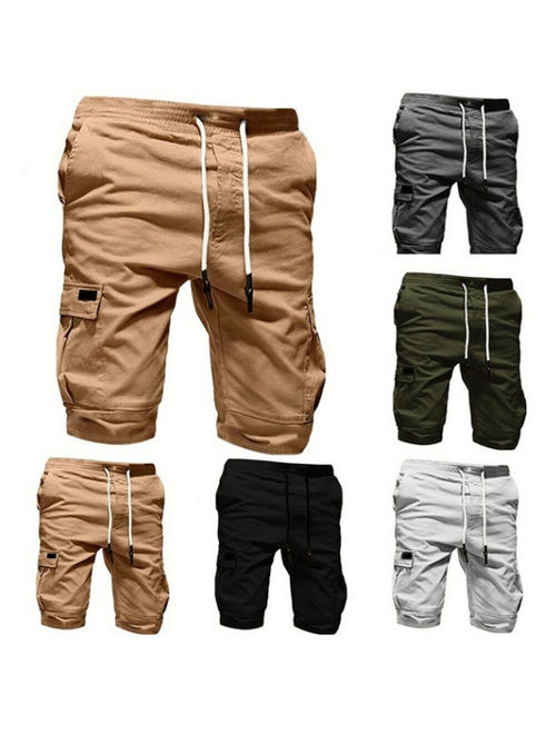 Hirigin Men Casual Jogger Shorts Sports Cargo Pants Military Combat Workout Gym Trousers