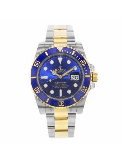 Submariner Blue Dial Stainless Steel And 18k Yellow Gold Bracelet Automatic Men's Watch 116613blso