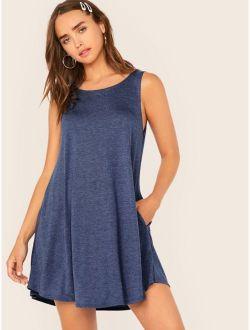 Pocket Side Swing Dress