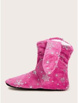 Snowflake Graphic High Top Boots