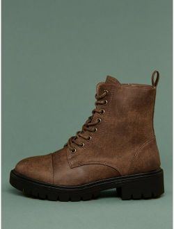 Lace Up Heavy Sole Military Boots