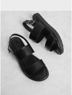 Two Part Flat Sandals