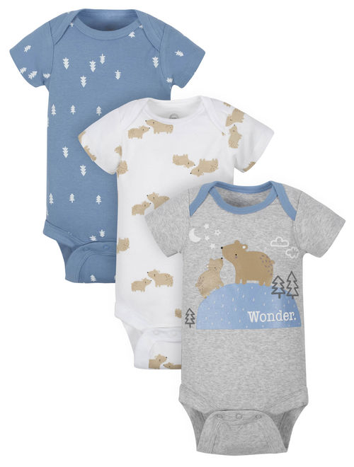 Wonder Nation Short Sleeve Bodysuits and Pants Outfit Set, 6pc (Baby Boys)