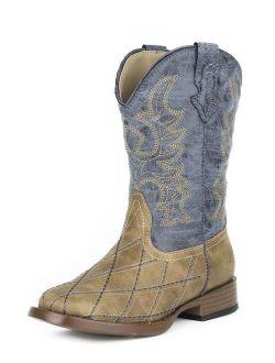 Roper Western Boots Boys Stitch Tan 09-119-1900-0080 TA