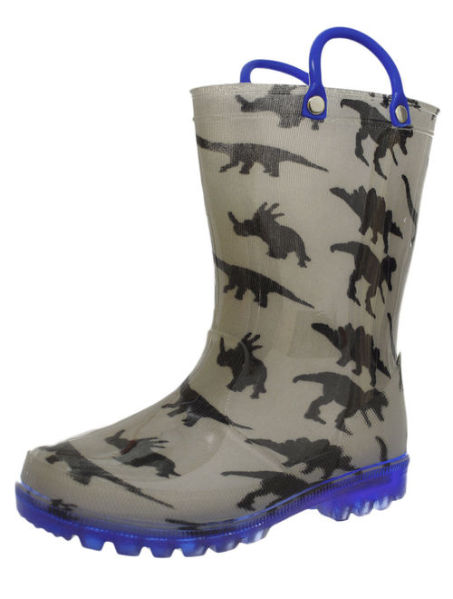 Lilly Boys' Light-Up Rubber Rain Boots (Sizes 5 - 12)