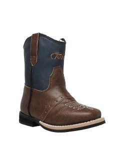 Infant Boys 5581 6 Side Zipper Western Boot
