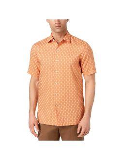 Mens Medium Button Down Printed Shirt 002 M