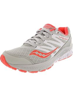 Women's Powergrid Grey/coral Ankle-high Mesh Running Shoe - 6m