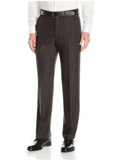 Haggar Men's Travel Performance Mini Tic Classic Fit Plain Front Suit Separate Pant