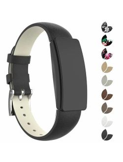 Compatible with Fitbit Inspire HR Bands for Women Men Large Small, Leather Replacement Wristbands for Fitbit Inspire and Inspire HR and Ace 2