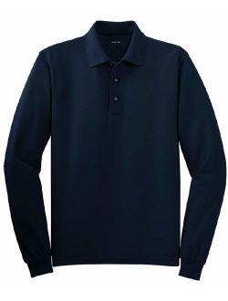Joe's USA - Mens 2X-Large Tall Long Sleeve Polo Shirts in 36 Colors Navy