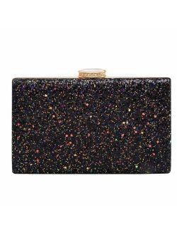 CARIEDO Women's Sparkling Clutch Purse Elegant Glitter Evening Bags Bling Evening Handbag for Dance Wedding Party Prom Bride