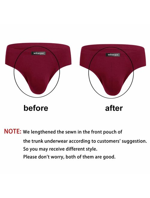 wirarpa Mens Breathable Modal Microfiber Trunk Underwear Covered Band Multipack