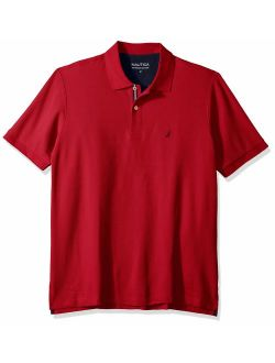 Men's Big And Tall Classic Fit Short Sleeve Solid Performance Deck Polo Shirt