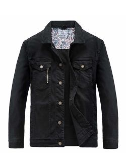 JYG Men's Casual Button Down Denim Jacket Classic Trucker Jean Coat