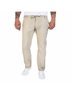 Landscap Men Skinny-fit Jean Sweatpants Casual Jogger Pants Gym Workout Running Sportswear Trousers