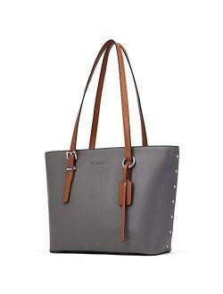 Women Leather Handbags Purses Designer Tote Shoulder Bag Top Handle Bag For Work Travel