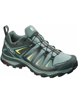 Women's X Ultra 3 Gtx Hiking Shoes, Artic/darkest Spruce/sunny Lime, 8