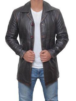 Brown Leather Jacket Men - Black Real Leather Coats for Men
