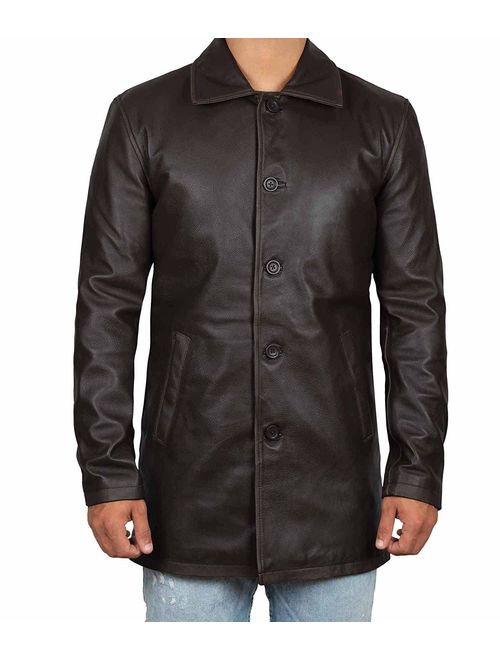 Decrum Leather Coats for Men - Black and Brown Leather Jacket Men