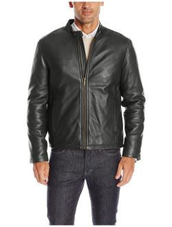 Men's Smooth Leather Classic Moto Jacket