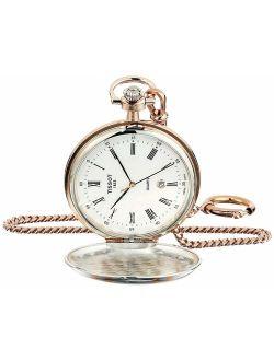Unisex Savonnette Swiss Quartz Brass Pocket Watch (model: T8624102901300)