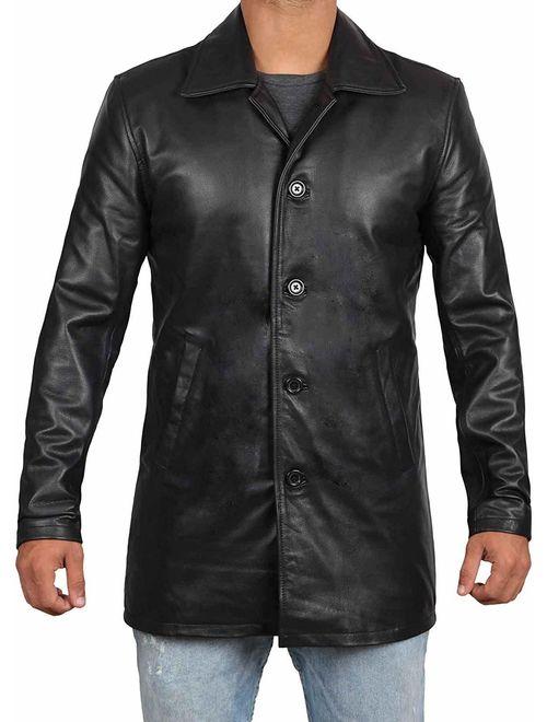 Brown Leather Jacket Men - Natural Distressed Leather Jackets for Men