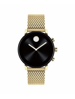 Connect 2.0 Unisex Powered With Wear Os By Google Stainless Steel And Ionic Light Gold 2 Plated Steel Smartwatch, Color: Yellow (model: 3660026)