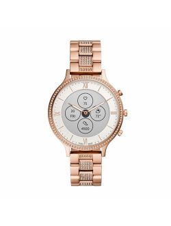 Women's Charter Hr Heart Rate Stainless Steel Hybrid Smartwatch