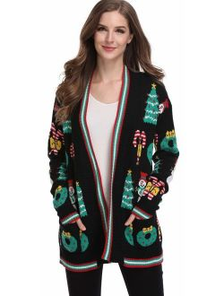 For G and PL Women's Funny Sweater Cardigans
