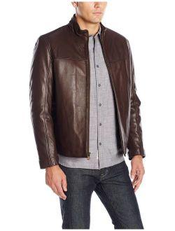 Men's Smooth Lamb Convertible Collar Jacket